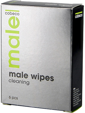Cobeco: Male Wipes, Cleaning, 6-pack