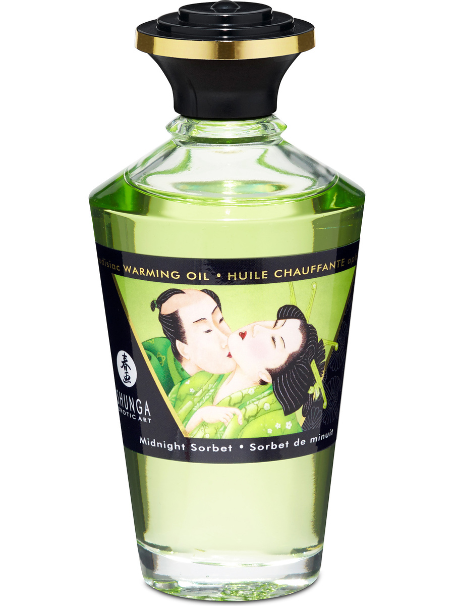 Shunga: Aphrodisiac Warming Oil, Midnight Sorbet, 100 ml