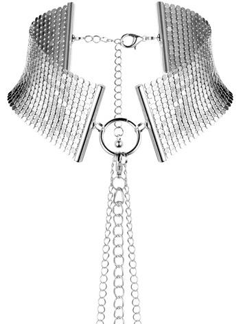Bijoux Indiscrets: Désir Métallique, Metallic Mesh Collar, silver