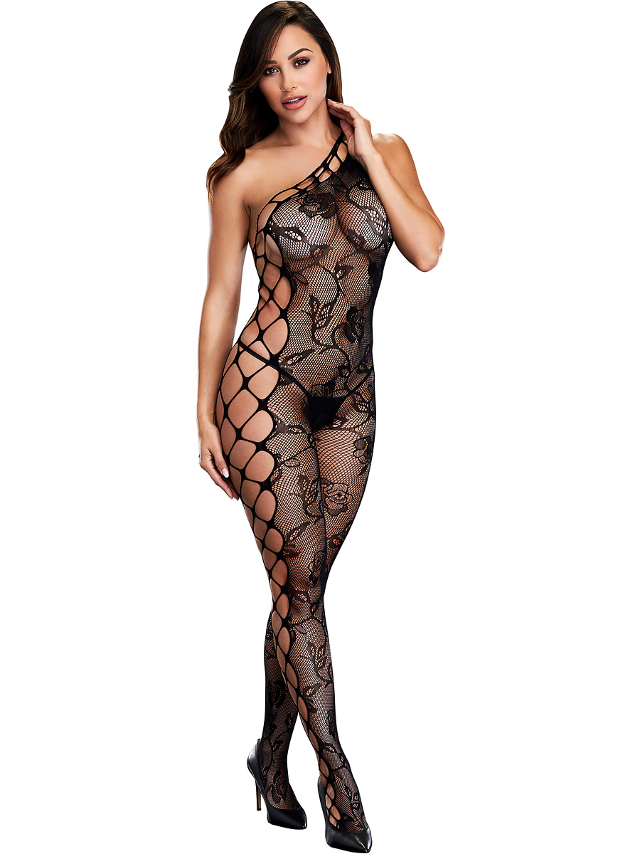 Baci: Off The Shoulder Bodystocking, One Size | Catsuits | Intimast.se - Sexleksaker