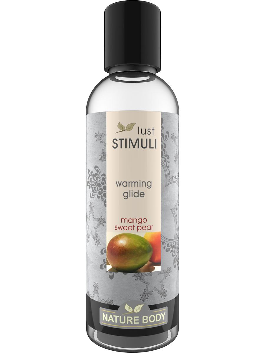 Nature Body: Lust Stimuli, Warming Glide, Mango Sweet Pear, 100 ml | Glidmedel | Intimast.se - Sexleksaker