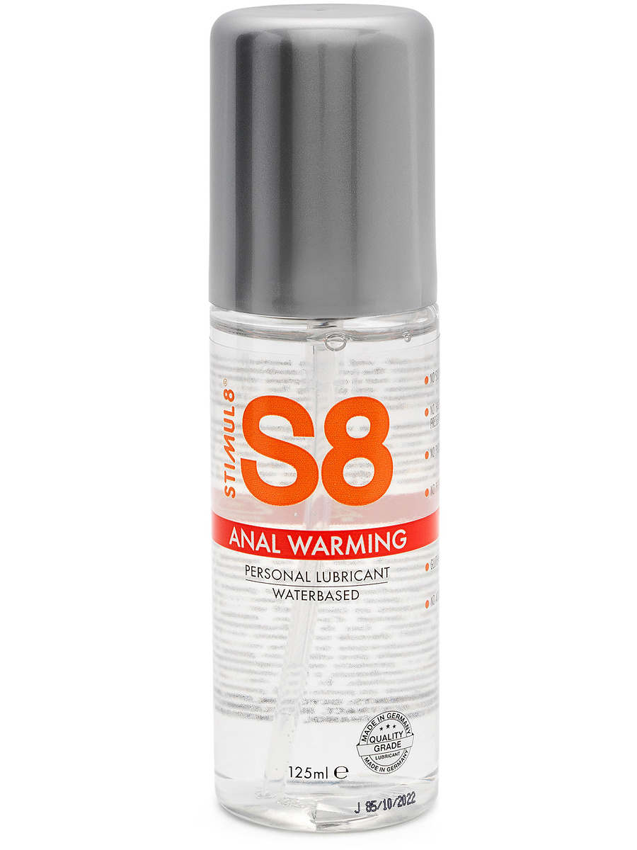 Stimul8: S8 Anal Warming, Waterbased Lubricant, 125 ml | Glidmedel | Intimast.se - Sexleksaker