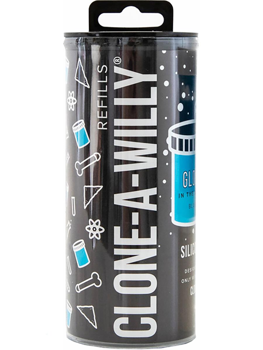 Clone-A-Willy: Silicone Refill, självlysande, blå