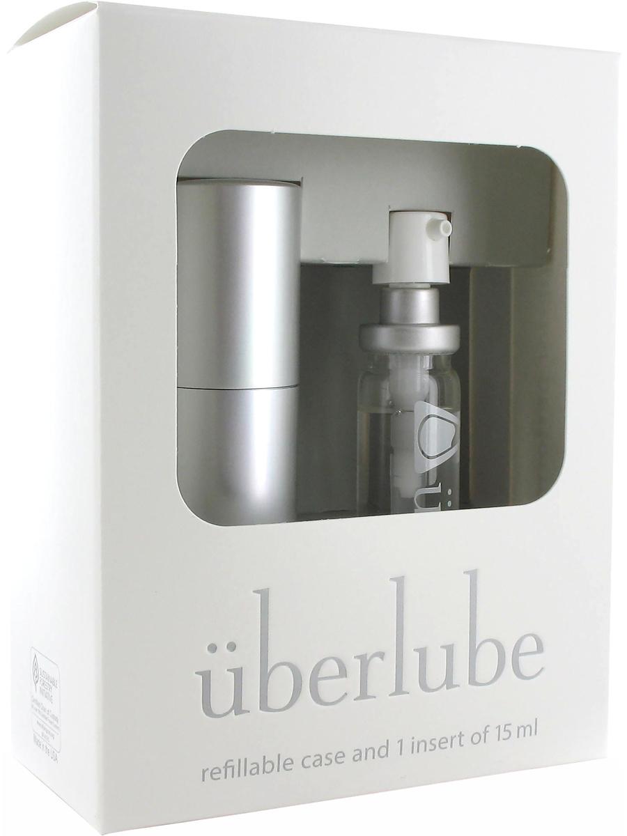 Überlube: Good-To-Go, Silicone Lubricant, 15 ml, silver | Glidmedel | Intimast.se - Sexleksaker