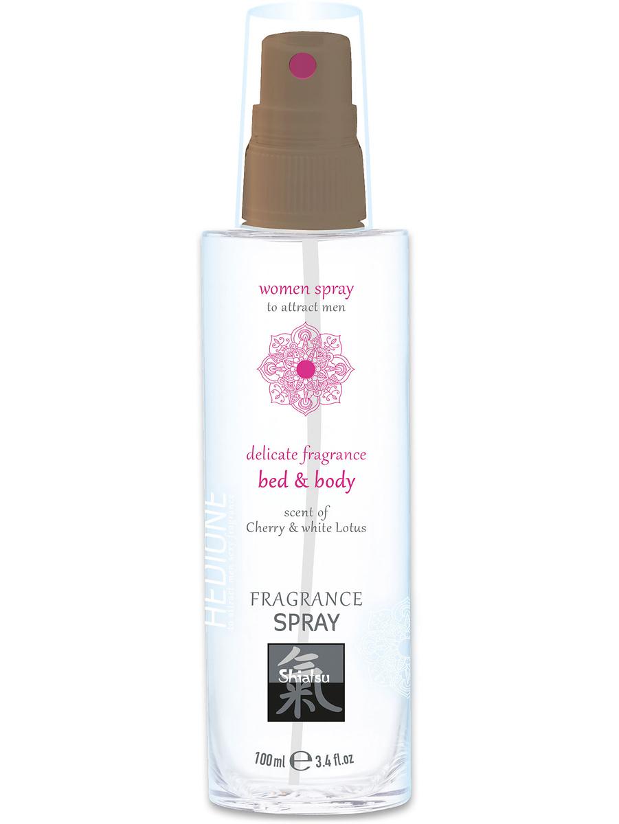 Shiatsu: Bed & Body Woman Spray, Cherry & White Lotus, 100 ml