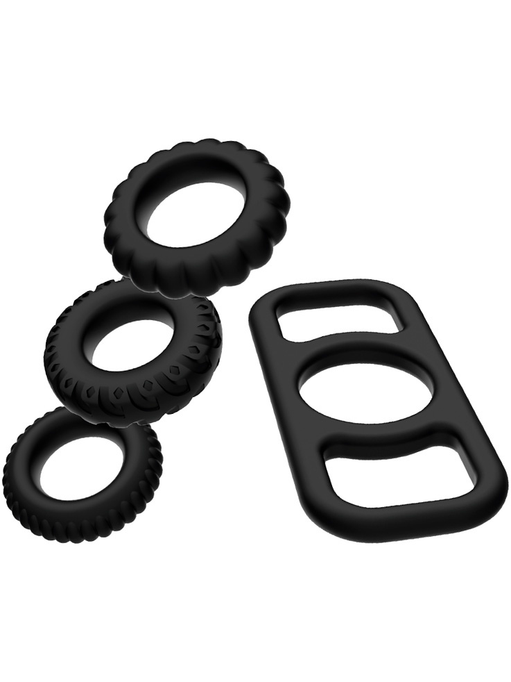 Addicted Toys: Cock Ring Set, 4 Pieces