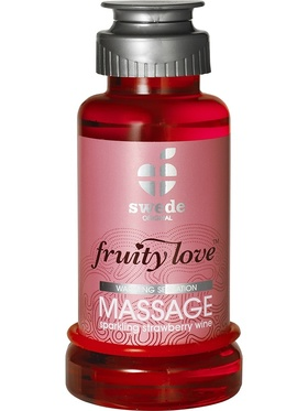 Swede Fruity Love: Värmande Massageolja Jordgubb, 100 ml