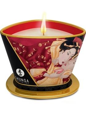 Shunga: Massage Candle Romance, Sparkling Strawberry Wine, 170 ml