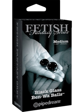 Pipedream Fetish Fantasy: Black Glass Ben-Wa Balls, Medium