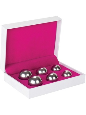 Shots Toys: Ben Wa Balls, 3 Different Weights, silver