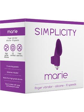 Simplicity: Marie, Finger Vibrator, lila
