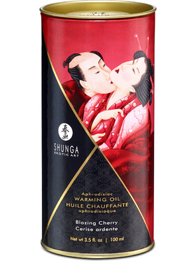 Shunga: Aphrodisiac Warming Oil, Blazing Cherry, 100 ml