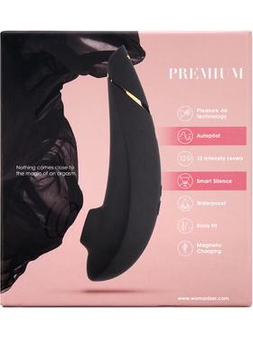 Womanizer: Premium, svart/guld + Glidmedel, 50 ml