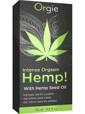 Orgie: Intense Orgasm Hemp, Intimate Gel for Couples, 15 ml