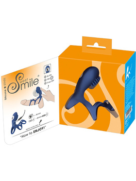 Sweet Smile: Rechargeable Couples Sleeve, blå