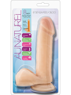 Blush: Au Naturel, Sensa Feel Dildo, 8 inch, hudfärgad