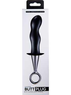 Excellent Power: Wavy Butt Plug with Rigid Handle