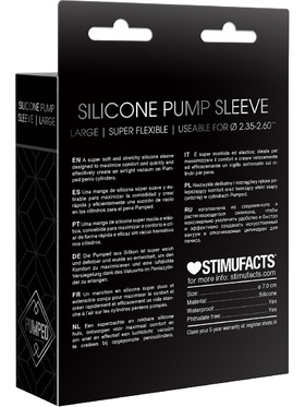 Pumped: Silicone Pump Sleeve, large, svart