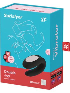 Satisfyer Connect: Double Joy, Partner Vibrator, svart