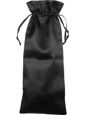 Satin förvaringspåse, 37 x 14.5 cm, svart
