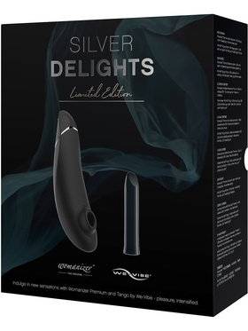 Womanizer: Premium & We-Vibe Tango Kit + Glidmedel, 50 ml