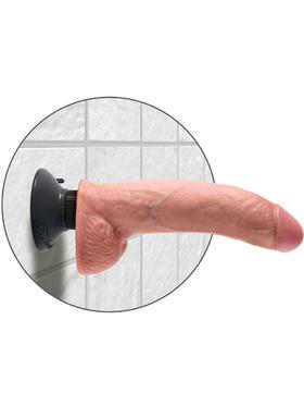 Pipedream: King Cock, 9 inch Vibrating Cock with Balls, hudfärgad