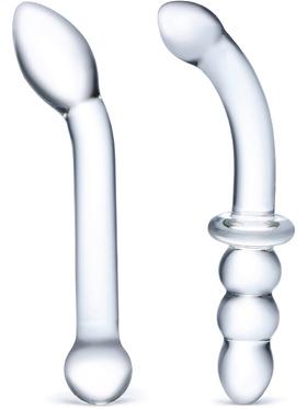 Gläs: 2pc G-Spot Pleasure, Glass Dildo Set