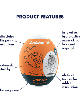 Satisfyer: Masturbator Egg Single, Crunchy